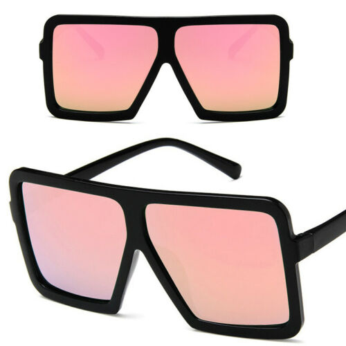Damen Sonnenbrille Classic Square Hälfte Rahmen Sehr Große Übergroße Brillen