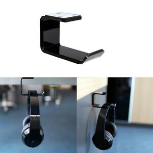 Hot-Headphone-Headset-Hanger-Holder-Hook-Sticker-Stand-Earphone-Wall-Display-UK