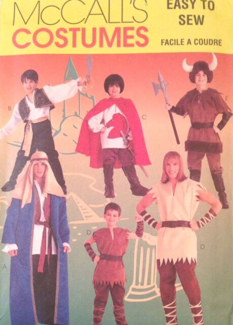 Mccalls Sewing Pattern Costume 8951 Pirate Peter Pan Shepard Cape
