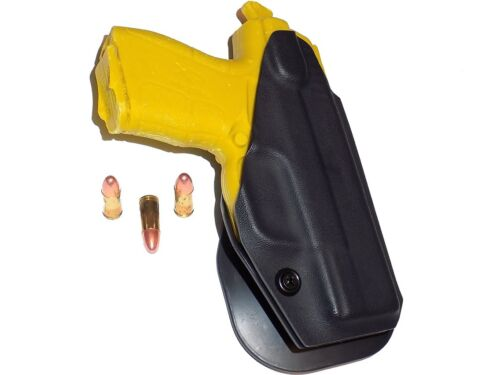 Aggressive Concealment XDEOWB OWB Kydex Paddle Holster fits Springfield XDE 9