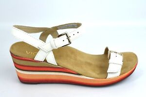 e17ee4787162 Image is loading Vionic-Enisa-Backstrap-Orthotic-Strappy-Wedge-Sandals -Leather-