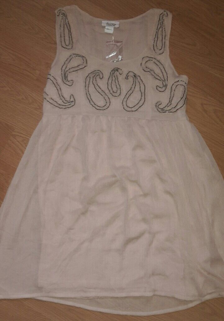 7ddd546798dd3e NEUES Nude Rosa Linea Linea Linea Tesini Tüll Kleid + Pailletten +  Reißverschluss in 42 44 5d6b7a