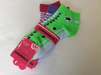 3 Pairs Ladies Novelty No-show Sneaker Socks Nip Pink/purple Fun To Wear