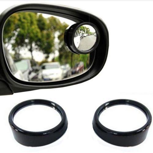 2x convexe Blind Spot Miroir Réglable Auto adhesiev pour Voiture Moto Van PV