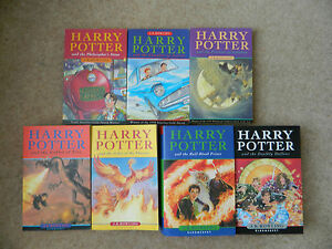 Harry Potter Complete 1st American Edition Hardcover Book Set 1-7 J.K. Rowling