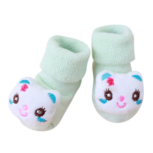 Toddler Kids Baby Girls Boys Anti-Slip Warm Cartoon Socks Slipper Shoes Boots TH