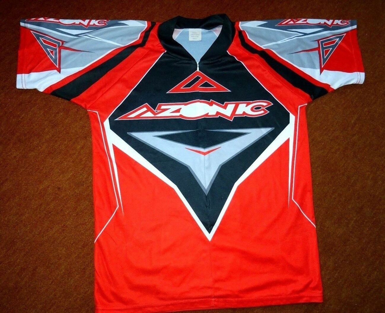 TOP Radsport-Trikot v. AZONIC Gr. M Funktionsfaser Bioderm RV-Tasche Top Design