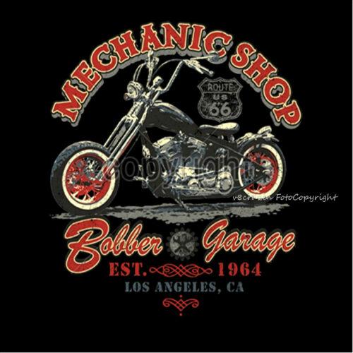 Biker Felpa Officina Con Garage Custom Cappuccio Bobber 4239 Choppers vvrExqwXH