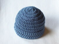 Obe Newborn 0-3 Months Baby Beanie Hat Cap Color Country Blue