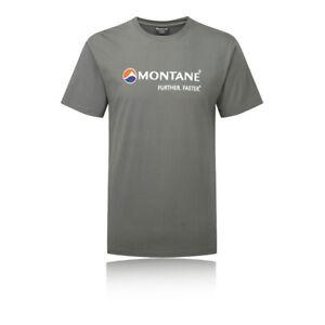 Montane-Logo-Mens-Grey-Short-Sleeve-Crew-Neck-Running-Sports-T-Shirt-Tee-Top