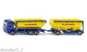 Truck-With-Futtermittelsilo-Siku-Super-Series-1-87-H0-Item-1809-New-Boxed