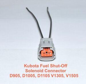 Details about Kubota Fuel Shut Off Solenoid Connector Plug D905 D1005 V1305  V1505 17208-60016