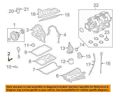 FORD OEM 05-07 Mustang 4.0L-V6 Engine Crankshaft-Pulley Bolt E7RY6A340B |  eBay | Ford Mustang V6 Engine Diagram |  | eBay