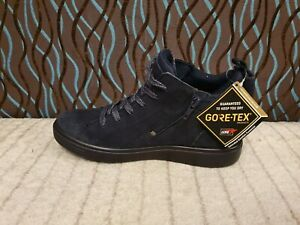 ECCO NAVY SUEDE HIGH TOP TRAINERS SIZE