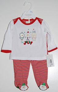 "Cheap Sale Nwt Absorba Infant Girls Red ""be Jolly"" Holiday Ls 100% Cotton Pajama Set 3-6m Sleepwear Girls' Clothing (newborn-5t)"