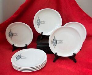 Ceramics & Porcelain Amicable Porcelain Limoges Bernardaud Huit Plates Rare Decor Andromed Ture 100% Guarantee
