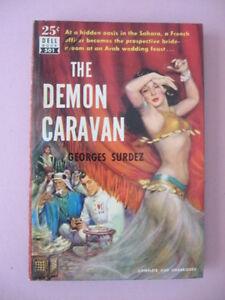 Unread-1951-THE-DEMOM-CARAVAN-by-GEORGES-SURDEZ-Dell-Book-501-Mapback-Romance-PB