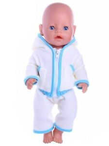 pink/hellblau Baby Born zb Jogging Anzug Puppenkleidung NEU 43 cm