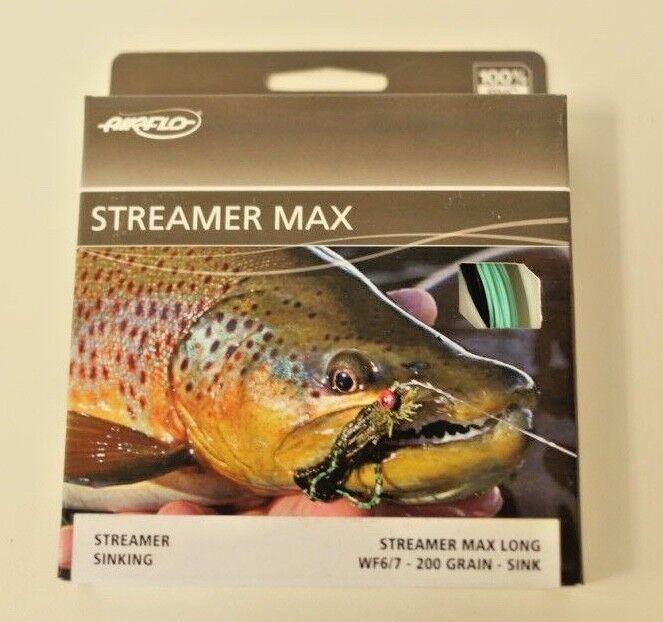Airflo Streamer Max Long 200 Grain Sink Sink Grain Tip Fly Line Free Fast Ship RSKGSWF67SPM 8117de