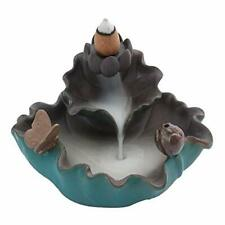 Erlesen Ceramic Censer Backflow Incense Burner Lotus Butterfly Reflux Tower