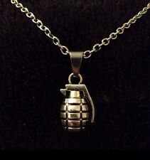 The Walking Dead Grenade Necklace Zombie Apocalypse Pendant Charm Army War *UK*