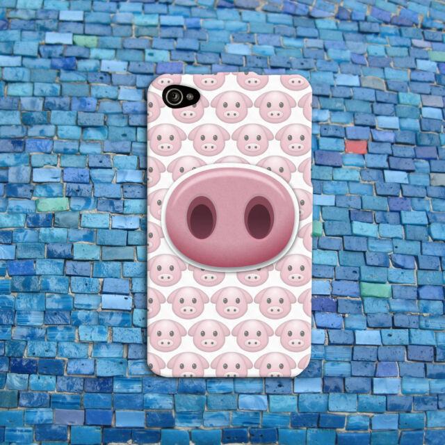 Funny Pig Emoji Phone Cover Little Piggy Cute Case iPhone 4 4s 5 5s 5c 6 6s iPod