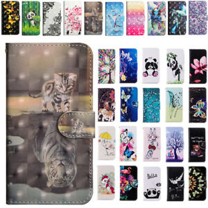 For-Nokia-Phones-Patterned-Leather-Wallet-Card-Magnetic-Flip-Case-Stand-Cover