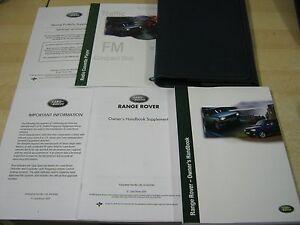 range rover p38 handbook pack owners manual 1998 2004 covers radio rh ebay co uk 1998 land rover freelander owners manual 1998 land rover discovery owners manual