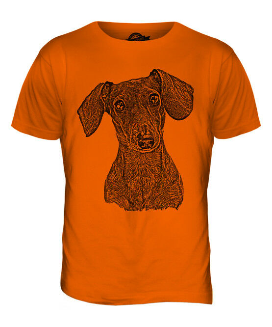 DACHSHUND SILHOUETTE MENS T SHIRT DOG DOGS PRESENT GIFT CANINE PET SAUSAGE
