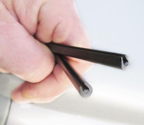 U Profil// Kederband Kanntenschutz für Bleche ab 3 bis 5mm PVC Profil 10 Meter