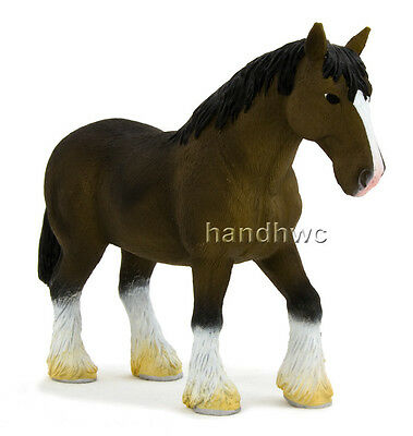 Mojo Fun 387070 Bay Clydesdale - Realistic Model Horse Toy Replica - NIP