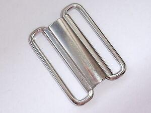 Cintura fibbia fibbia chiusura con gancio chiusura 4 cm argento NUOVO #733#  </span>