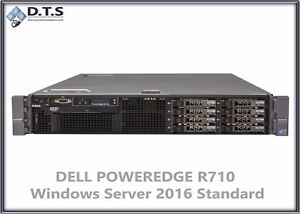 Dell-PowerEdge-R710-48gb-DDR3-Intel-XEON-X5570-2-93Ghz-Server-2016-Standard-COA