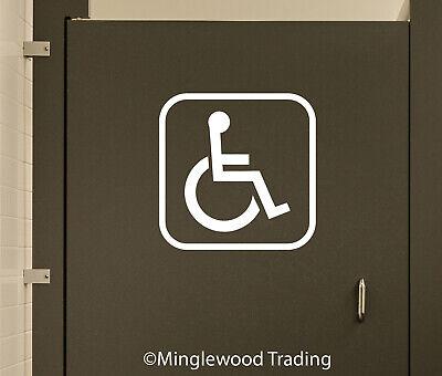 Handicap Accessible Bathroom Door Sign Vinyl Sticker ...