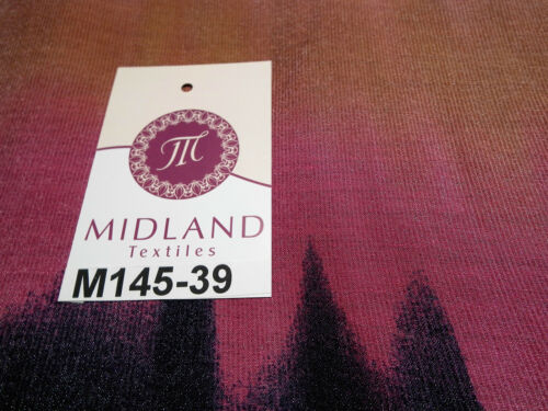 "Bold Horizontal Gradient multi coloured printed Crinkle fabric 58/"" M145-39 Mtex"