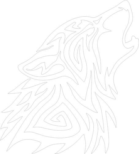 TRIBAL WOLF DESIGN VINYL STICKER CAR//VAN//WALL//DOOR//LAPTOP//TABLET//FRAME GIFT