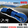 SK75 10MM X 26M Dyneema Winch Rope Recovery Synthetic Tow Car Offroad Cable 4X4