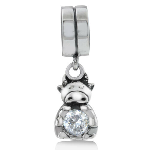 Blanc Zircone cubique Argent Sterling 925 chinois Zodiac Dangle European Charm Bead