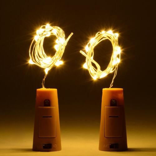 5x 20LED Kork geformte LED Lichterkette Flaschenkorken Flaschenbeleuchtung LD976