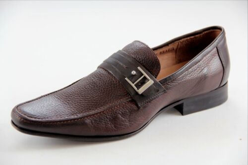 Sarreti Men/'s Slip On Leather Brown Made In Brazil Dress Shoes Style#18937