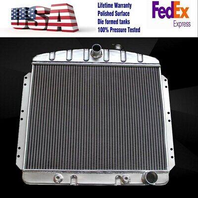 3Row Aluminum Radiator For 1949-1954 Chevrolet Bel-air //Fleetline //Styleline+Fan