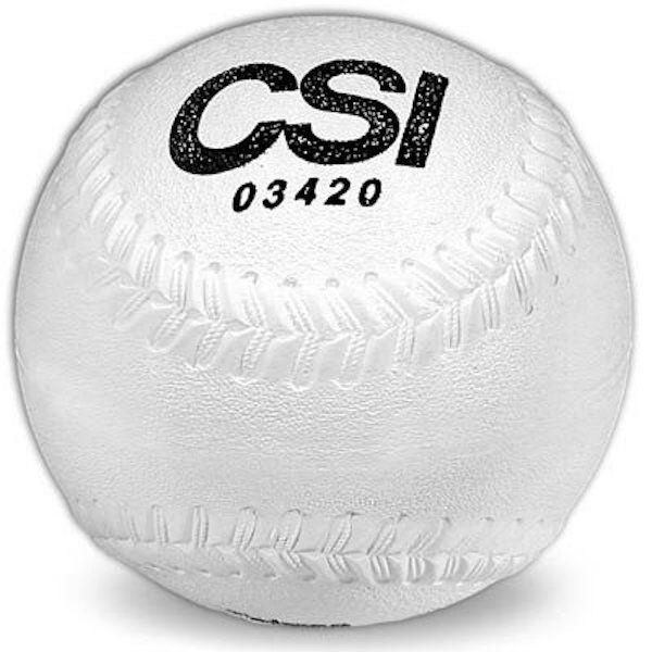Soft, Cork Sponge Center Rubber Covered Playground Softballs (One dozen)
