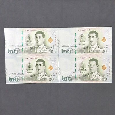 20 BAHT THAI BANK NOTE MONEY R10 UNC KING RAMA X THAILAND  BANKNOTES