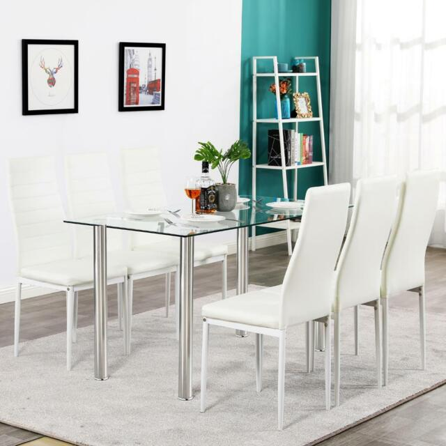 Powell Maggie 7 Piece Dining Set White For Sale Online Ebay