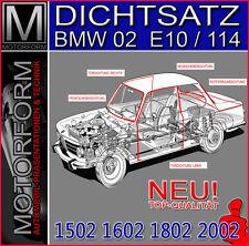 BMW 02 Typ 114 / E10 Dichtsatz 5-teilig - 5 Dichtungen Karosserie Gummis NEU