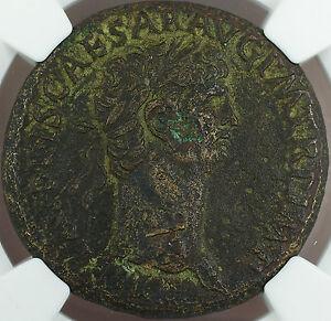 Claudius-41-54-AD-Bronze-Sestertius-Roman-Empire-NGC-VF-Ancient