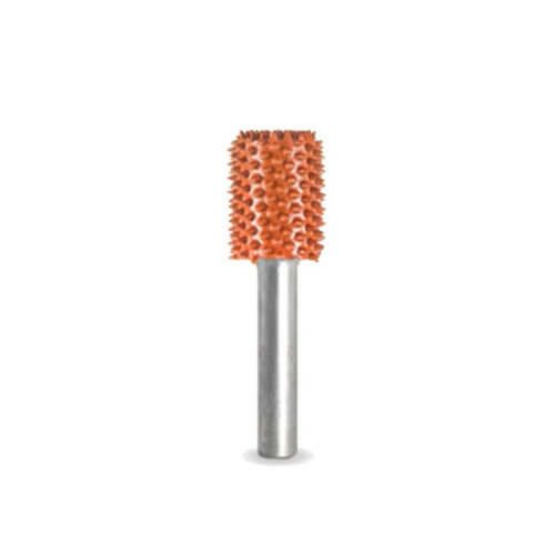 """14C12-90 SABURR TOOTH 1//2/"""" Cylinder Burr Bit Ex-Coarse - 1//4/"""" Shank Orange"""