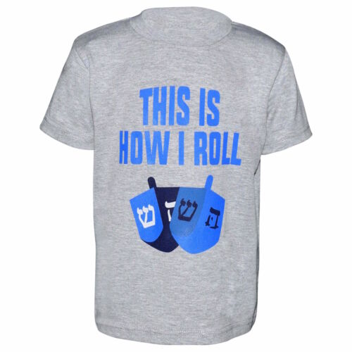 Unique Baby Boys How I Roll Hanukkah Dreidal Shirt
