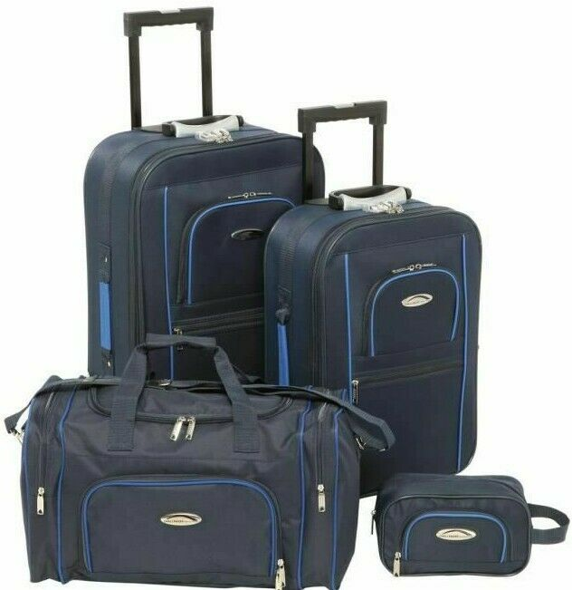 Ensemble Valise Sac De Voyage Cabine Souple Vanity Lot x4 Set Bagagerie Low cost