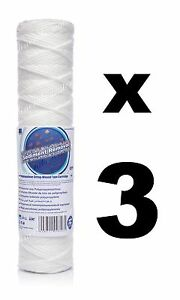 """3 X 1 Micron Filtre Sédiment String-wound 10 """", Filtre à Eau, Osmose Inverse, Ro.-afficher Le Titre D'origine Une Offre Abondante Et Une Livraison Rapide"""